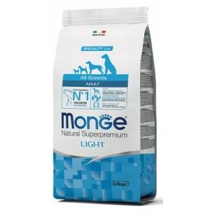MONGE DOG AB salmon & rice light 12kg