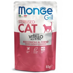 MONGE GRILL Cat veal 85g