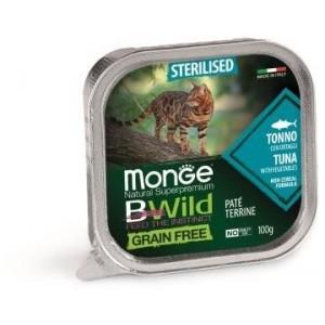 MONGE BWILD CAT STERIL.tuna 100g
