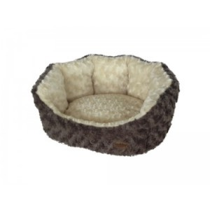 Nobby comfort bed OBRA brown/beige 86x70x24cm