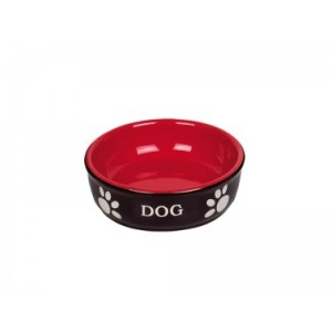 Nobby ceramic dish DOG black/red ¤15,5*6,5cm