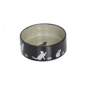 Nobby ceramic bowl black/beige ¤12cm