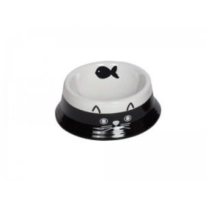 Nobby ceramic bowl black/white ¤14cm