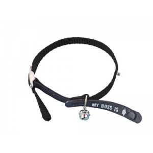 "Nobby cat collar ""MY BOSS"" Black"