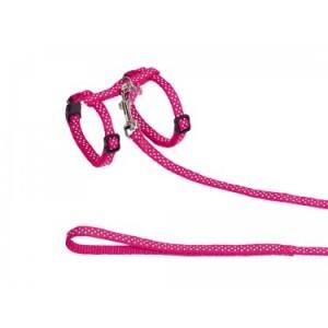 Nobby cat collar + leash pink