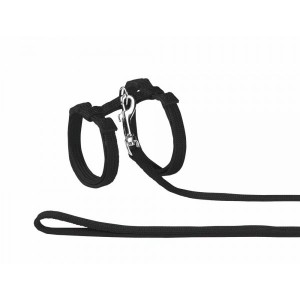 Nobby black harness for cats