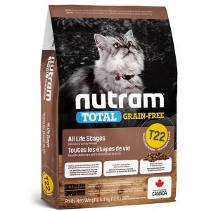 Nutram T22 Total Grain Free Chicken & Turkey Cat Food 5,4kg