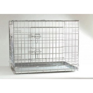 IPTS Dog Cage Zinc Plated 2 Doors 63x55x61 cm