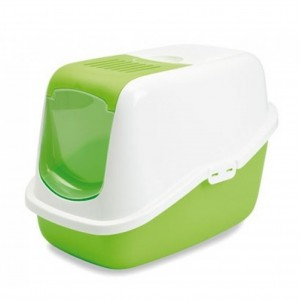 Savic Cat Toilet NESTOR white/green