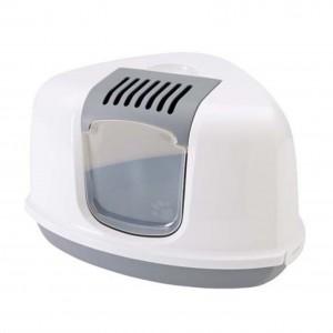 Savic Cat Toilet NESTOT Corner white/gray