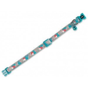 Nobby Cat Collar HEART turquoise