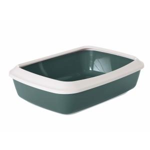 Savic Cat Litter Tray IRIZ 50cm white/green