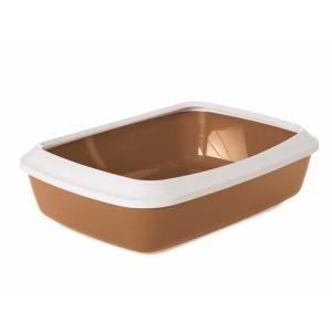 Savic Cat Litter Tray IRIZ 50cm white/brown