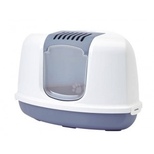 Savic Cat Toilet NESTOR Corner white/blue