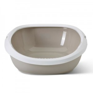 Savic Gizmo litter box white/moka