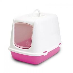 Savic Cat Toilet OSCAR white/pink