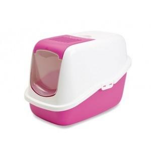 Savic Cat Toilet NESTOR white/pink
