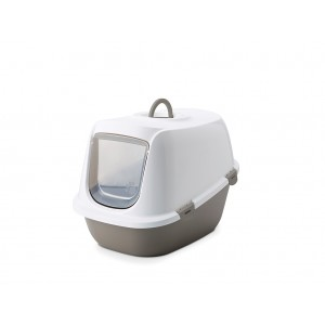 Savic cat litter box LEO white/grey
