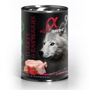 AlphaSpirit DOG TURKEY & RASPBERRY 400g