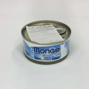 MOnge Cat Jelly Tuna & White Fish Fillets 80g