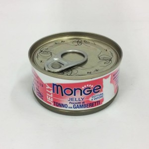 MOnge Cat Jelly  Tuna & Shrimps 80g