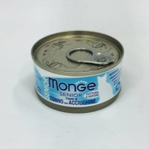 MOnge Senior Cat Jelly TUna & Whhite Baits 80g