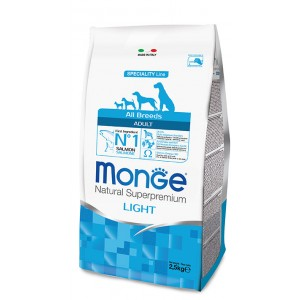 Monge Light Dog food Lamb & Rice 2,5 kg