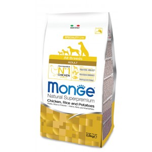 MOnge All Breeds Dog food Chicken & Rice 2,5 kg