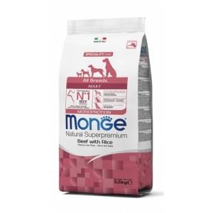 MONGE DOG AB beef & rice dog food 2,5kg