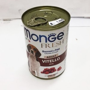MONGE Fresh ADULT veal 400g