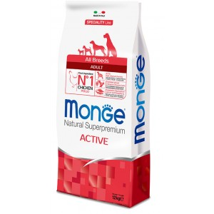 MONGE DOG AB ACTIVE chicken dog food 12kg