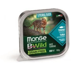 MONGE BWILD CAT STERIL.tuna 100g