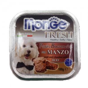 Monge Dog Freh  Beef 100g