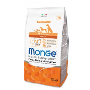 Monge Dog All Breeds Duck & Rice Dogfood 2,5kg