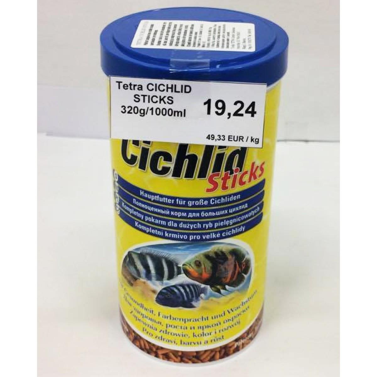 Tetra cichlid sticks 320g 1000ml for Tetra cichlid sticks