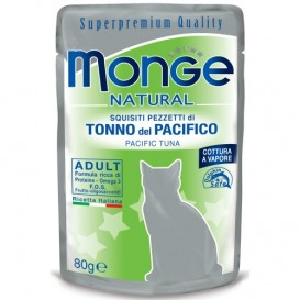 MONGE Natural Cat Tuunikala 80g kott