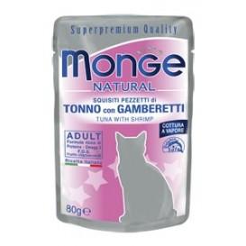 MONGE Nat. Cat Tuunik./krevett 80g kott