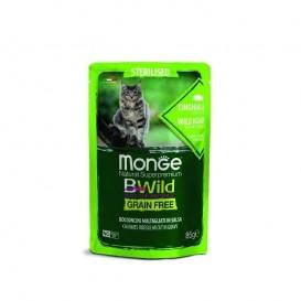 MONGE BWILD STERIL.CAT Metssiga 85g kott