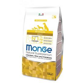 MONGE AB koeratoit Kana & Riis 2,5kg