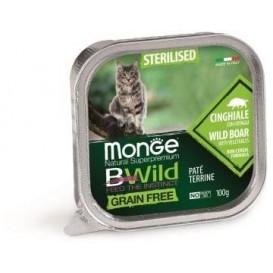 MONGE BWILD CAT STER.metssiga 100g