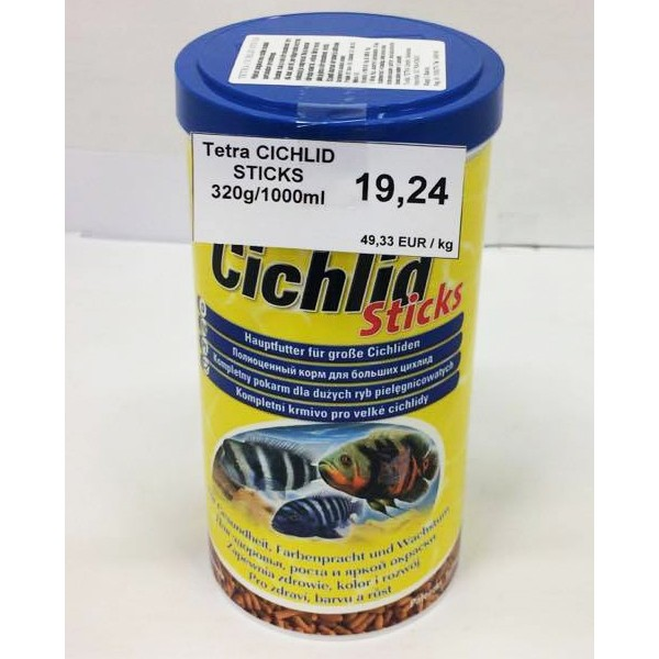 Tetra cichlid sticks 320g 1000ml for Tetra cichlid sticks