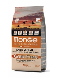 MONGE GRAIN FREE MINI PARDILIHAGA 2,5kg