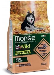 MONGE BWILD DOG GRAIN FREE lõhe 2,5kg