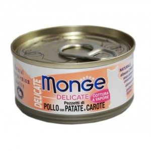 MONGE Delic. Cat Kana/Kartul/Porgand 80g