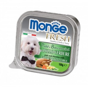 MONGE Fresh DOG Kana/köögivilja 100g