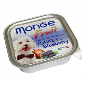 MONGE FRUIT DOG Kalkun/mustikas 100g