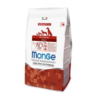MONGE AB koeratoit lammas & riis 2,5kg