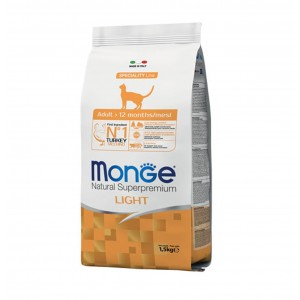 MONGE CAT ADULT LIGHT KALKUN 1,5kg