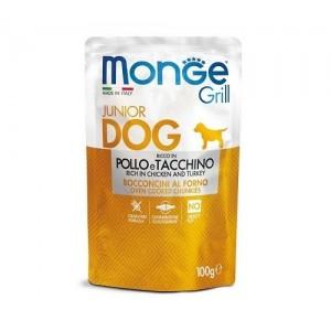 MONGE GRILL DOG JUNIOR Kana&Kalkun 100g
