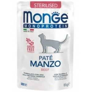 MONGE MONOPR.STERIL.CAT VEIS kott 85g